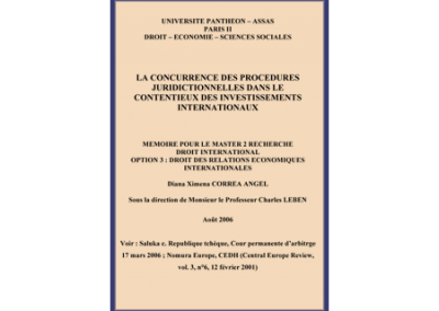 Concurrent Proceedings in International Investment Law