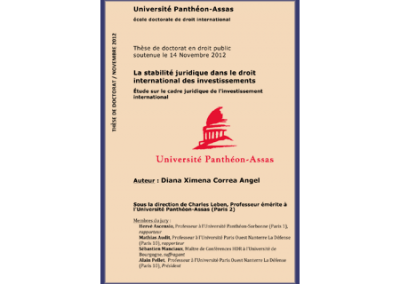 The Legal Stability in International Investment Law, PhD Thesis
